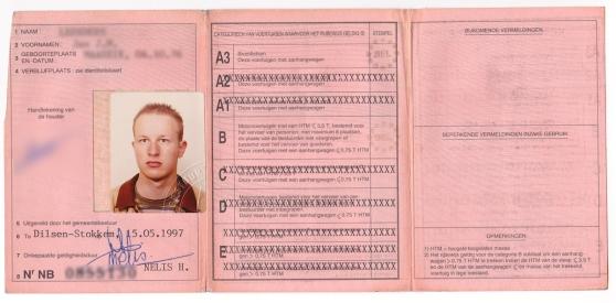 Oud Belgisch rijbewijs