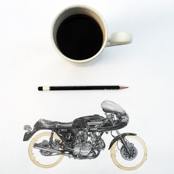 carter-asmann-koffiekring-tekening-ducati-desmo-900